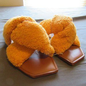 Anthropologie Parme Marin Terrycloth Sandals New